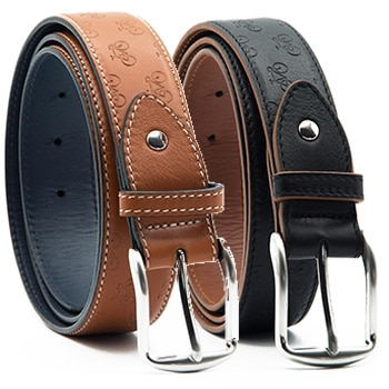 Determination leather belt in 2 colours