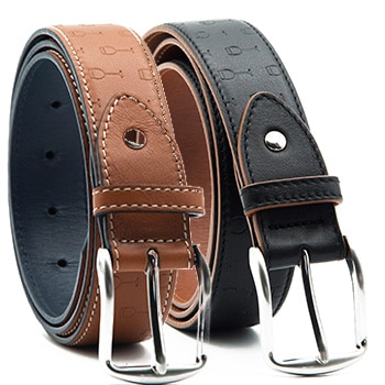 Optimism leather belt in 2 colours
